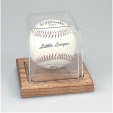BH5 Oak Base Baseball Display